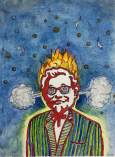 Colonel Sanders Exploding on ten hits of Acid